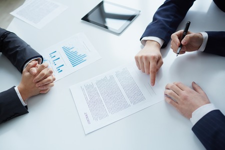 The process of signing new business contract photo