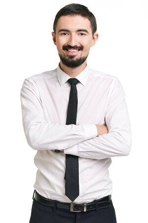 attractive male: Retrato de hombre atractivo en ropa formal mirando a la c�mara