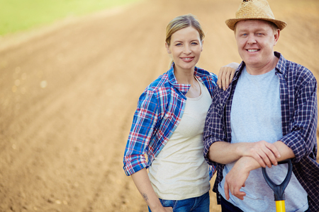 Image of two happy farmers  photo