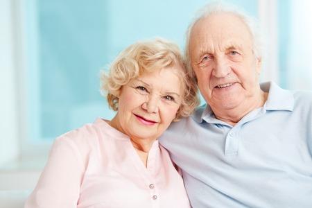 Portrait of a candid senior couple enjoying their retirement photo