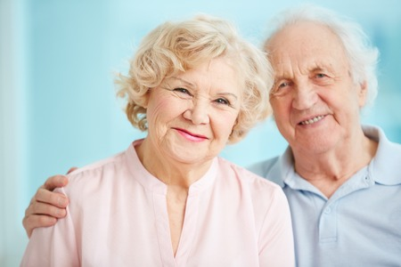 Portrait of smiling seniors enjoying spending time together photo