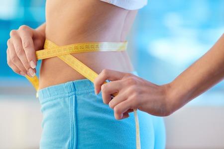 body slim: Waist of slim female Stock Photo