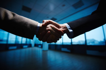 partner: Handshake of business partners Stock Photo