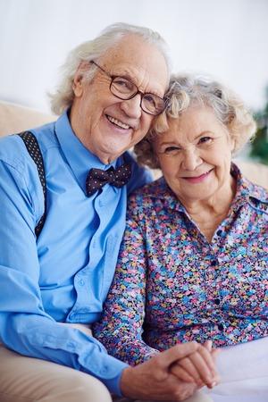elegantly: Elegantly dressed couple of pensioners