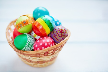 redemption: Easter decorations in small basket