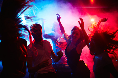 nightclubs: Young people hanging around in nightclub