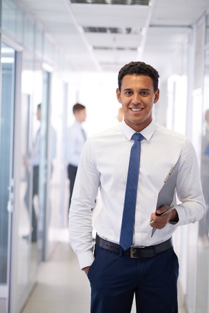 man portrait: Handsome professional in formalwear looking at camera Stock Photo