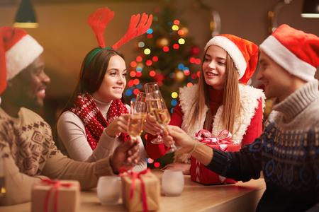 liquor girl: Friendly guys and girls gathered on Christmas evening