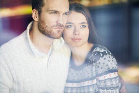 restful: Restful young couple in sweaters
