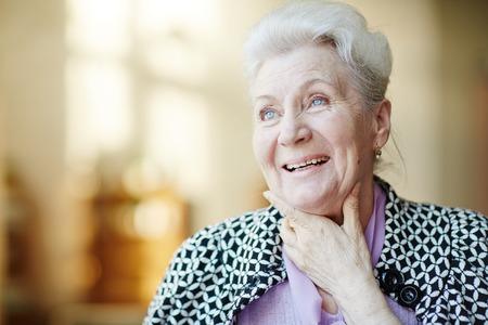 Portrait of happy senior woman Standard-Bild