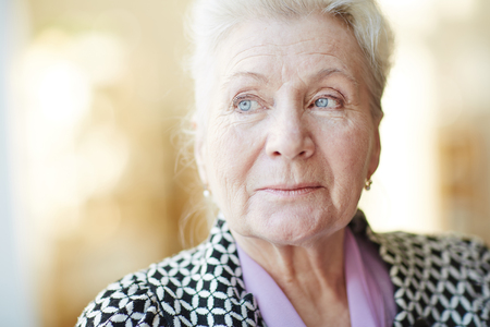 one senior: Portrait of a beautiful senior woman Stock Photo