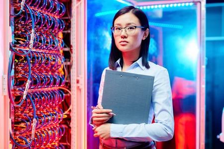 Portrait of asian woman technician Stockfoto