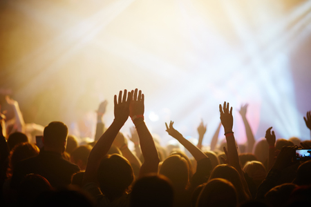 entertainment event: Hands of fans during a concert