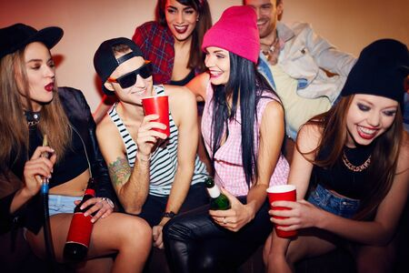 clubber: Swag teens spending time in bar