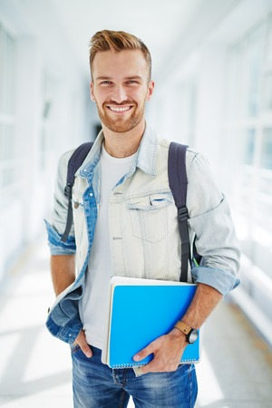 Portrait of smiling college student