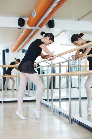 repetition: Ballerina keeping balance during repetition
