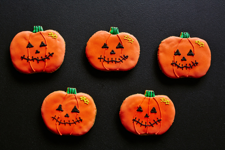 repent: Several cookies in form of pumpkins