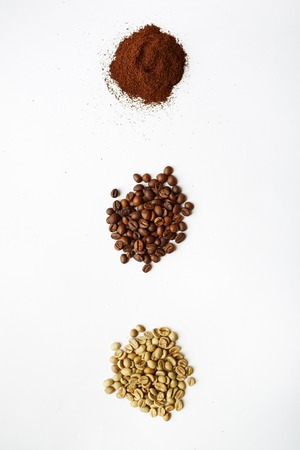grind: Black, white and grind coffee beans