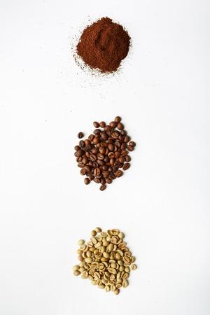jamoke: Black, white and grind coffee beans