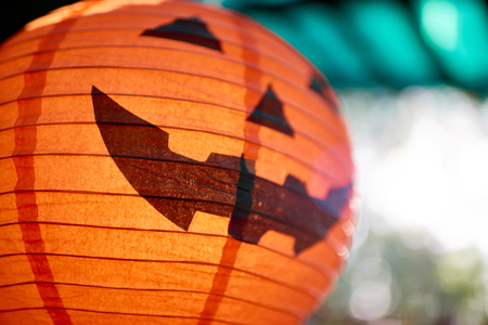 Big paper Halloween decoration and symbol