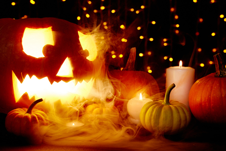 attributes: Smoke and Halloween attributes in the dark