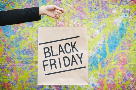 paperbag: Seasonal sale announced on paperbag