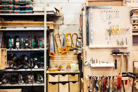 workroom: Empty workroom with technical instruments