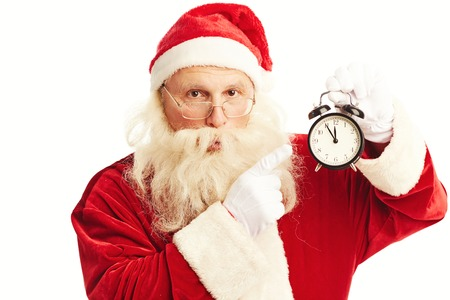 Santa warning you that Christmas is coming in five minutes photo