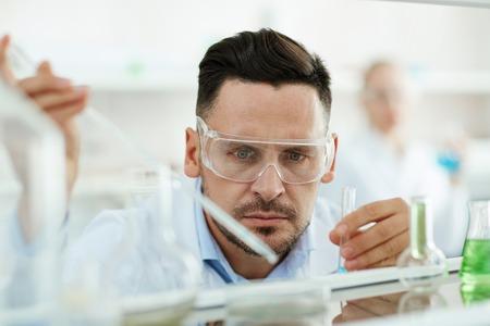 characteristics: Scientific expert finding out new characteristics of liquids