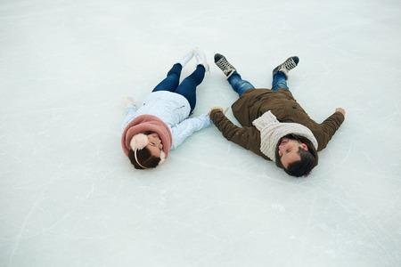 Relax on ice Stock Photo
