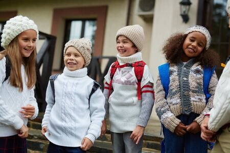 elementary schools: Carefree friends Stock Photo