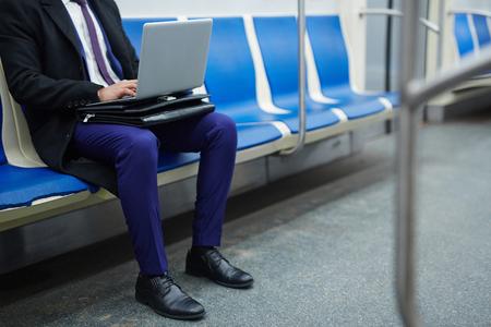 Netwerk in de metro Stockfoto