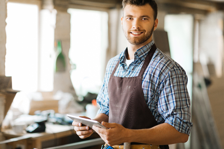 Contemporary joiner Stock Photo