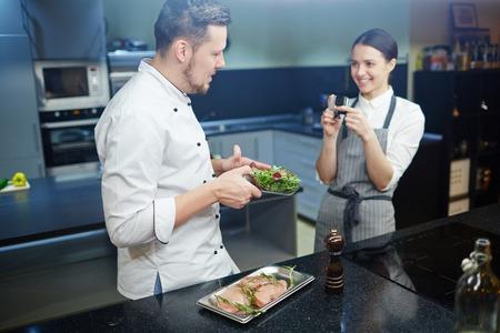 Cours vidéo de cuisson Banque d'images