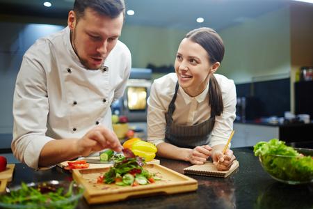 Cours de cuisine Banque d'images - 68940944