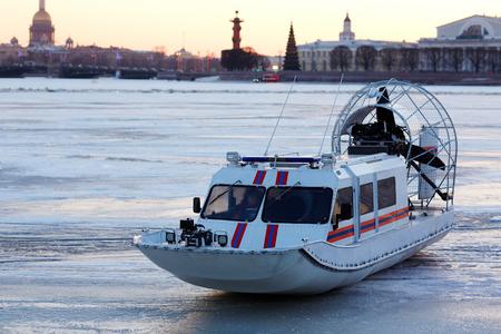 hovercraft: Urban rescue Stock Photo
