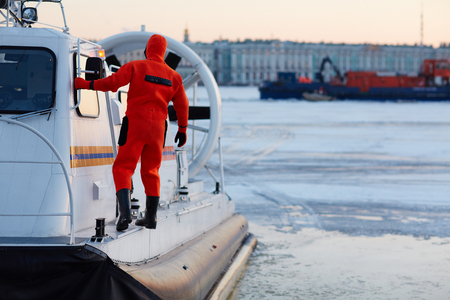 hovercraft: Worker of rescue team