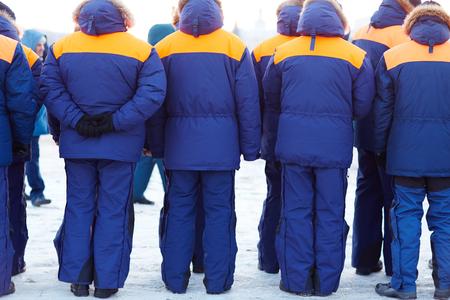 coastguard: Row of lifeguards