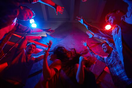 clubber: Party in disco club Stock Photo