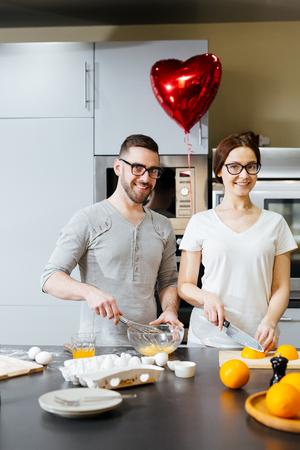sweethearts: Sweethearts cooking Stock Photo
