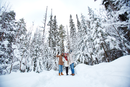 Teens in forest photo