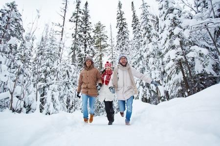 Running in snow photo