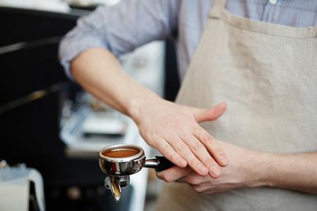 Koffiepoeder Stockfoto