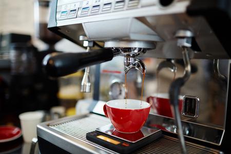 Making hot espresso
