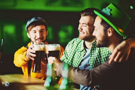 Cheers to Irish Beer! Stock Photo