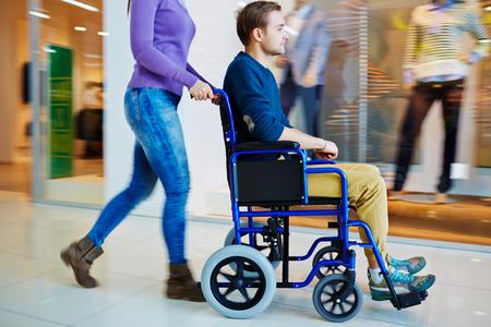 Shopping in wheelchair