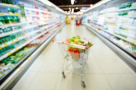 cart: Blurred photo of shopping trolley