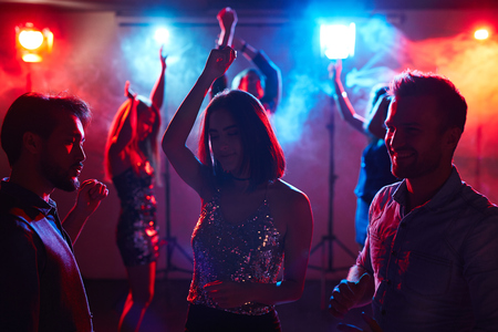 girls youth: Enjoying youth at disco
