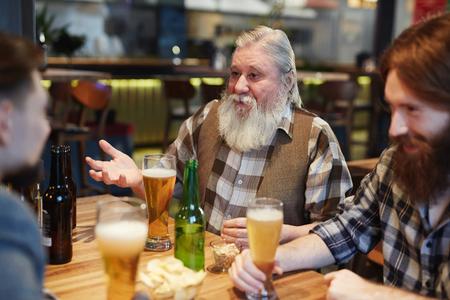 Men in pub Stock Photo
