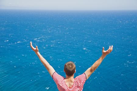 Viewing endless ocean